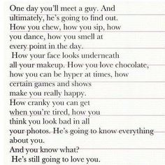 One day you'll meet a guy...