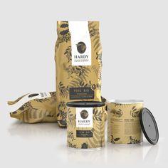 Coffee pack design. Organic coffee.