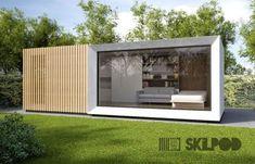 Creativos y Geniales SKILPOD: combinatie van staal- en houtskeletbouw # casaspequeñas