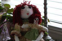 Handmade OOAK 22 Rag Doll and 9 Companion Doll by SherisShoppe, $185.00