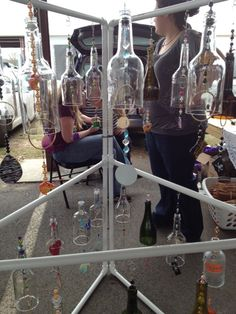 Make your own windchimes with wine bottles! The possibilities are endless!