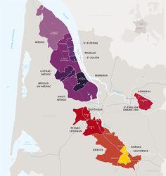 """""""Wine Map"""", cartographie du guide de l'UGCB (Union des Grands Crus de Bordeaux) by me : )"""