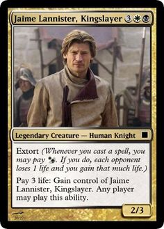 Game of Thrones Magic: The Gathering cards. Now, I might actually play that MTG game...