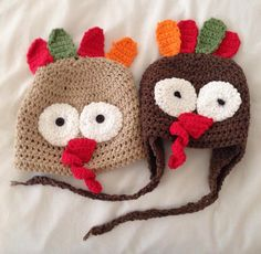 A personal favorite from my Etsy shop https://www.etsy.com/listing/208278132/turkey-beanie-hats-for-thanksgiving-made