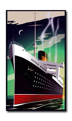 Image result for queen mary art deco poster