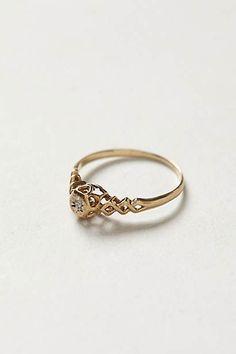 Vintage Lattice Diamond Ring
