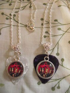 Pretty Little Liars Inspired Guitar Pick Necklace on by kazmarzjez