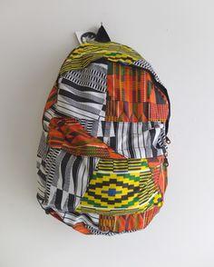 Kente Backpack by Blim on Etsy https://www.etsy.com/listing/125316166/kente-backpack