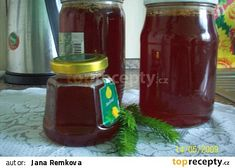Rychlý smrkový med recept - TopRecepty.cz Med, Preserves, Smoothie, Salsa, Homemade, Recipes, Diet, Syrup, Essen