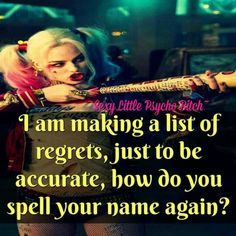 I regret believing you were really my friend.what a fool I was for thinking you were honest & would be a true friend Bitch Quotes, Crazy Quotes, Joker Quotes, Badass Quotes, True Quotes, Funny Quotes, Funny Memes, Harley Quinn Drawing, Joker And Harley Quinn