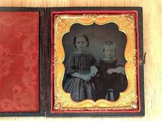 1 6 Plate Ambrotype Photograph Children | eBay