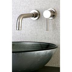 Kingston Brass Wall Mount Chrome (Grey) Single Handle Bathroom Faucet (Chrome)