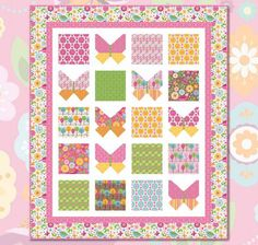 Free Quilt Pattern featuring Dream And A Wish by Sandra Workman ... : butterfly baby quilt pattern - Adamdwight.com
