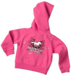 Cowgirl Hardware Toddler Girls' Too Cute To Cry Hoodie - 2T-4T - Sheplers