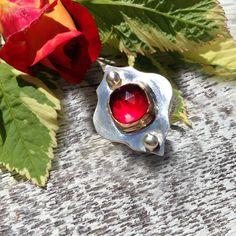 Moroccan Quatrefoil Ruby and Sterling Silver ring. Marrakesh trellis design, Casbah trellis, moorish jewelry, moroccan jewelry