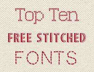 Rachel Bonness Design top ten favourite best free stitched cross stitch fonts