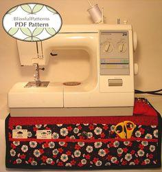 fairytale frocks and lollipops::blissful patterns, sewing machine organizer, e-pattern, downloadable pattern, pdf pattern