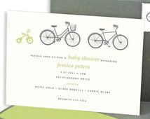 DIGITAL - Bicycle Baby Shower Invitations, Neutral Baby Shower, Boy Shower, Girl Shower, Baby Shower, Gender Neutral Shower Invitations