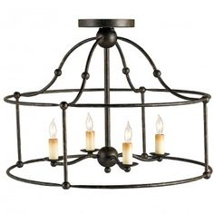 Currey and Company Fitzjames Ceiling Mount Pendant