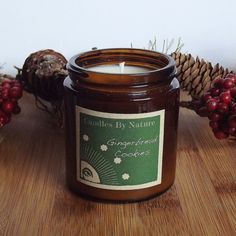Holiday Decor GINGERBREAD COOKIES Soy Candle by candlesbynature