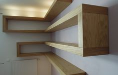 Wood And Metal, Floating Shelves, Stairs, Diy Projects, Leather, Home Decor, Furniture, Stairway, Decoration Home