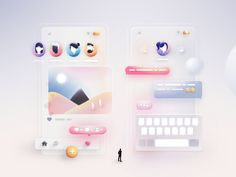 Social Network by Andrei Simion for Orizon: UI/UX Design Agency on Dribbble Web Design, Flat Design Icons, App Ui Design, Interface Design, Game Design, Icon Design, Web Layout, Layout Design, Ui Design Inspiration