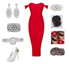 """fire and ice"" by reagan-renee-rowland on Polyvore featuring CARAT*, René Caovilla, Mark Broumand, bürgi, Judith Leiber, women's clothing, women, female, woman and misses"