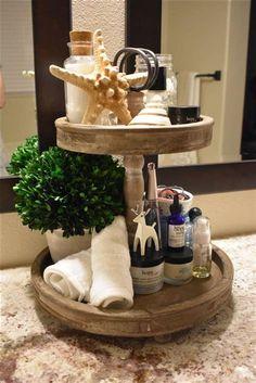 Tray Decoration Ideas New 40 Beautiful Bathroom Vanity Tray Decor Ideas Bathroom Vanity Tray, Bathroom Counter Decor, Bathroom Ideas, Master Bathroom, Bathroom Cabinets, Bathroom Organization, Bathroom Inspiration, Neutral Bathroom, Shower Ideas