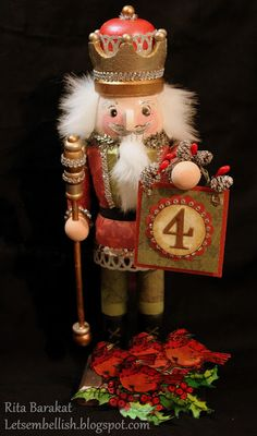 12 Days of DCWV: Day 4 - Embellished Nutcracker with the Christmas and Winter Stack
