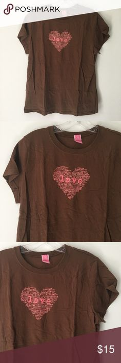 """HEART LOVE VALENTINE'S DAY VALENTINE TEE SHIRT TOP Chocolate Candy Brown Babydoll Princess Bright Pink Words Graphic SOFT Valentine Valentine's Day Holidays Holiday Romantic Lover Love Me You Love-birds Kiss XOXO Two Hearts Heart Be Mine Dream Smile Adore Hug SUPER ADORABLE Kawaii Sweet Early 00's 2000's Vtg Vintage Quote Aesthetic 