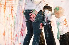 lets get rowdy More of Gareth, Teryn and Rowdy's family paint session with @Wesley Edmonds