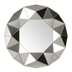 Mirror with 3D Geometric Patterns D 60 cm   Maisons du Monde