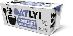 Twin pack oatgurt Vanilla/Blueberry - What could possibly be better than our new single portion oatgurt packs in vanilla blueberry? A twin pack of. Elderflower, Frozen Desserts, Healthy Cooking, Packaging Design, Plant Based, Dairy Free, Packing, Twin, Blueberry