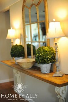Home by Ally: DIY Entryway Table using corbels/architectural salvage