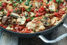 Tuscan Chicken Skillet - the perfect one-pan meal! Leave out the beans for Whole30.
