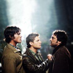 Sam, Dean, and John Winchester