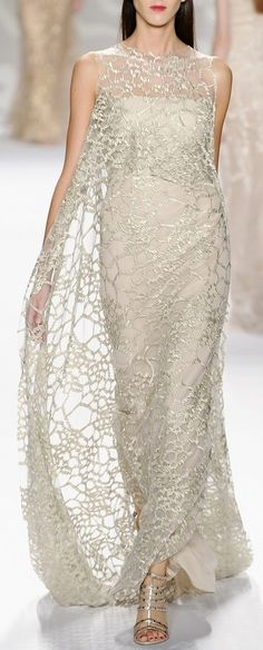 Monique Lhuillier Spring 2014 - sheer pattern