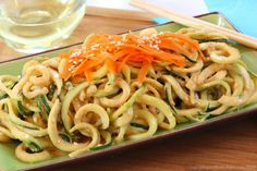 "<p>Here's a lighter, healthier and veggie-filled dish.  <strong>Recipe here</strong> > <strong><a href=""http://cupcakesandkalechips.com/2014/09/07/sesame-zucchini-noodles-zoodles/"" target=""_blank"">SESAME ZUCCHINI NOODLES</a></strong></p>"