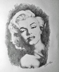 Marilyn - part II by ~agi1991 on deviantART  | This image first pinned to Marilyn Monroe Art board, here: http://pinterest.com/fairbanksgrafix/marilyn-monroe-art/ || #Art #MarilynMonroe