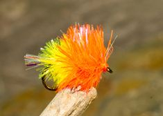 Tequila Sunrise blob fly... great for rainbows
