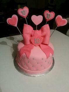 Pink girlie birthday cake