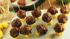 Clinton Kelly's Spicy Turkey Meatballs with Sweet Mango Glaze Recipe | Rachael Ray Show