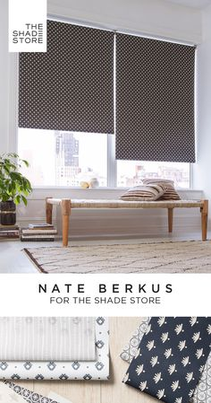Interior designer Nate Berkus presents an exclusive roller shade collection for The Shade Store®. A sophisticated palette of grays, neutrals, and inspired colors, mixed with a breeziness that make them feel effortlessly stylish, no matter what room they l Blinds For Windows, Windows And Doors, Sunroom Blinds, Balcony Blinds, Blinds Curtains, Window Blinds, Sheer Curtains, Basement Window Treatments, Blinds Home Depot