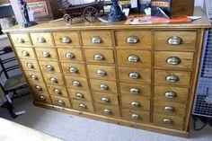 old haberdashery cabinet