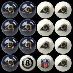 Los Angeles Rams Home vs Away Billiard Balls