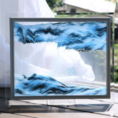 Glass dynamic quicksand frame hourglass Sand Sculptures, Sculpture Art, Small Shelving Unit, Sand Dance, Sand Pictures, Wholesale Promotional Products, Paint Marker Pen, Glass Picture Frames, Gifts For Office