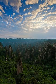 Zhangjiajie National Park, China.I want to go see this place one day.Please check out my website thanks. www.photopix.co.nz