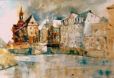 Altes Rathaus in Bamberg, Aquarell 2015, 38 x 56 cm