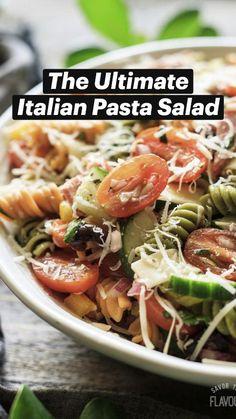 Best Salad Recipes, Cucumber Recipes, Healthy Dinner Recipes, Pasta Recipes, Shrimp Recipes, Cooking Recipes, Potluck Dishes, Pasta Dishes, Potato Pasta