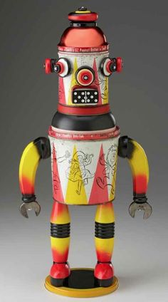 Image result for 1950's tin toy robot